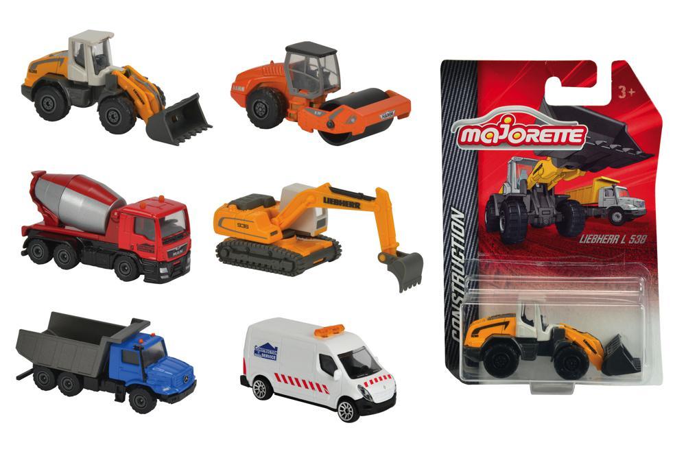 Majorette Camion de construction 6 modèles assortis 1:64