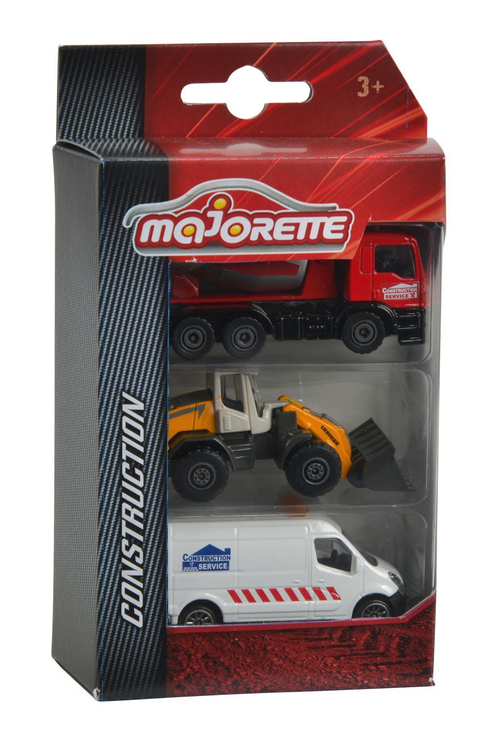 Majorette - 3 Construction Vehicles assorted