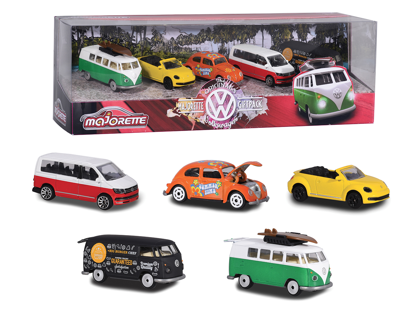 Majorette Volkswagen 5 pieces set