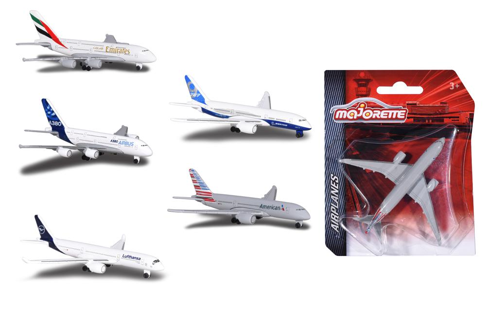Majorette Avion license assortis