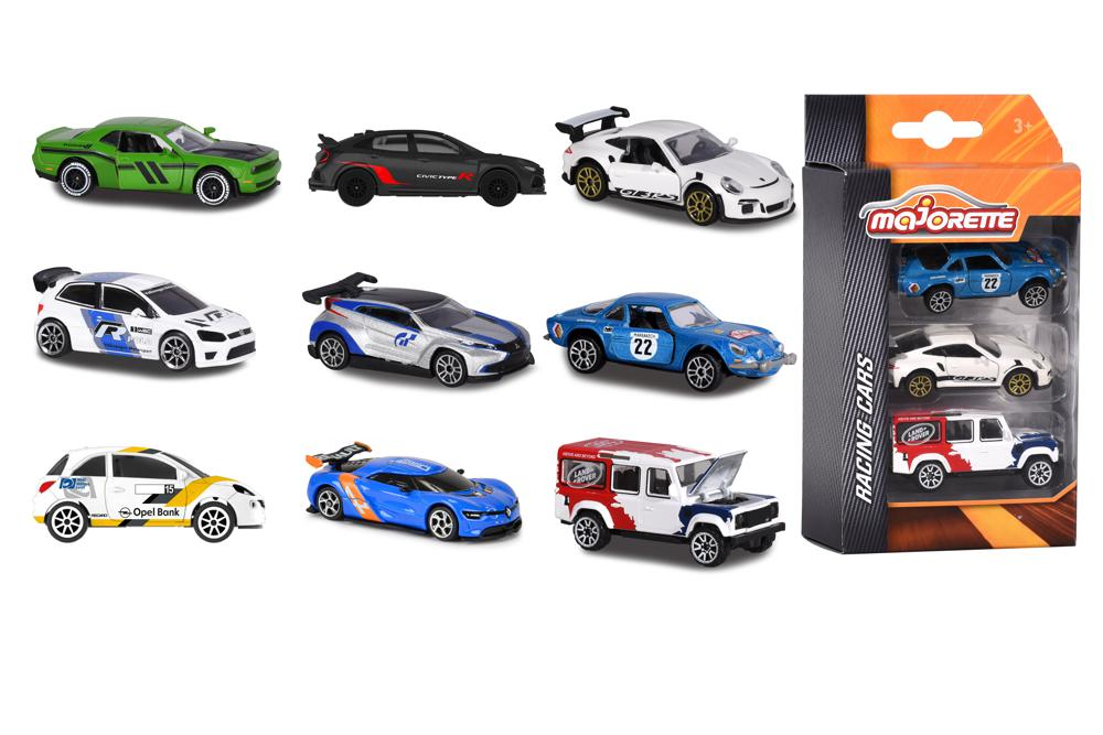 Majorette - 1:64 Racing cars 3 pieces set assorted