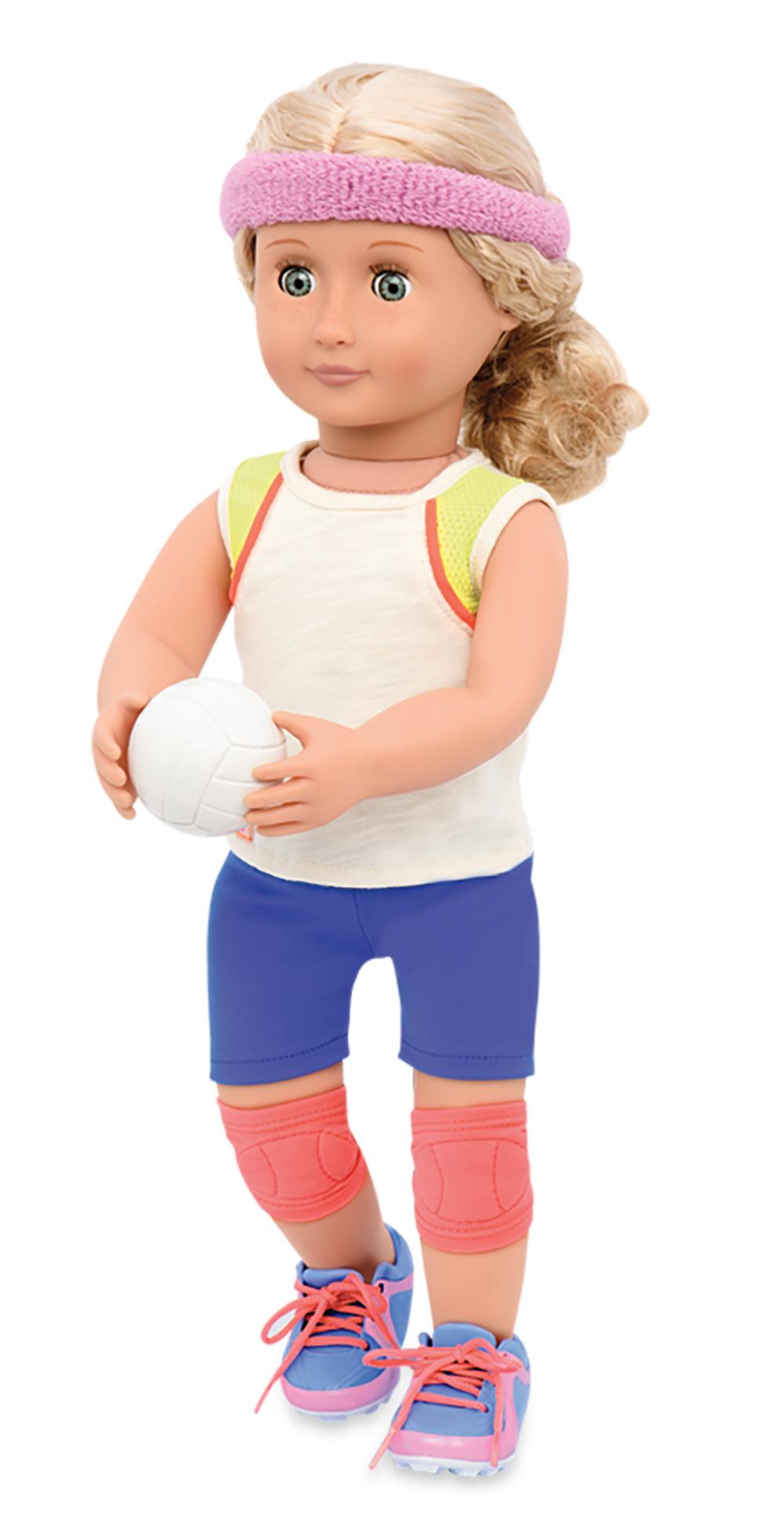Ensemble de volleyball pour poupée OG de 46 cm
