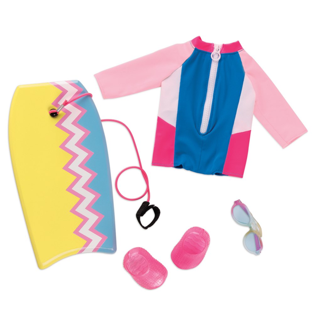 Ensemble et planche Fashion Wave pour poupée OG de 46 cm