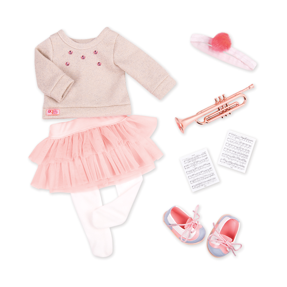 Deluxe Outfit OG - Fashion Notes for 18 Doll