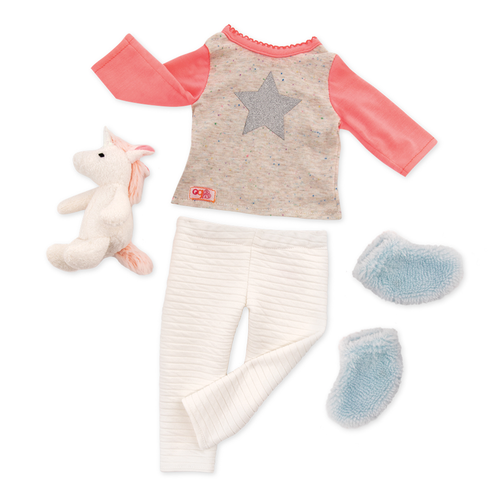 Outfit OG - Unicorn Wishes Outfit for 18 Doll