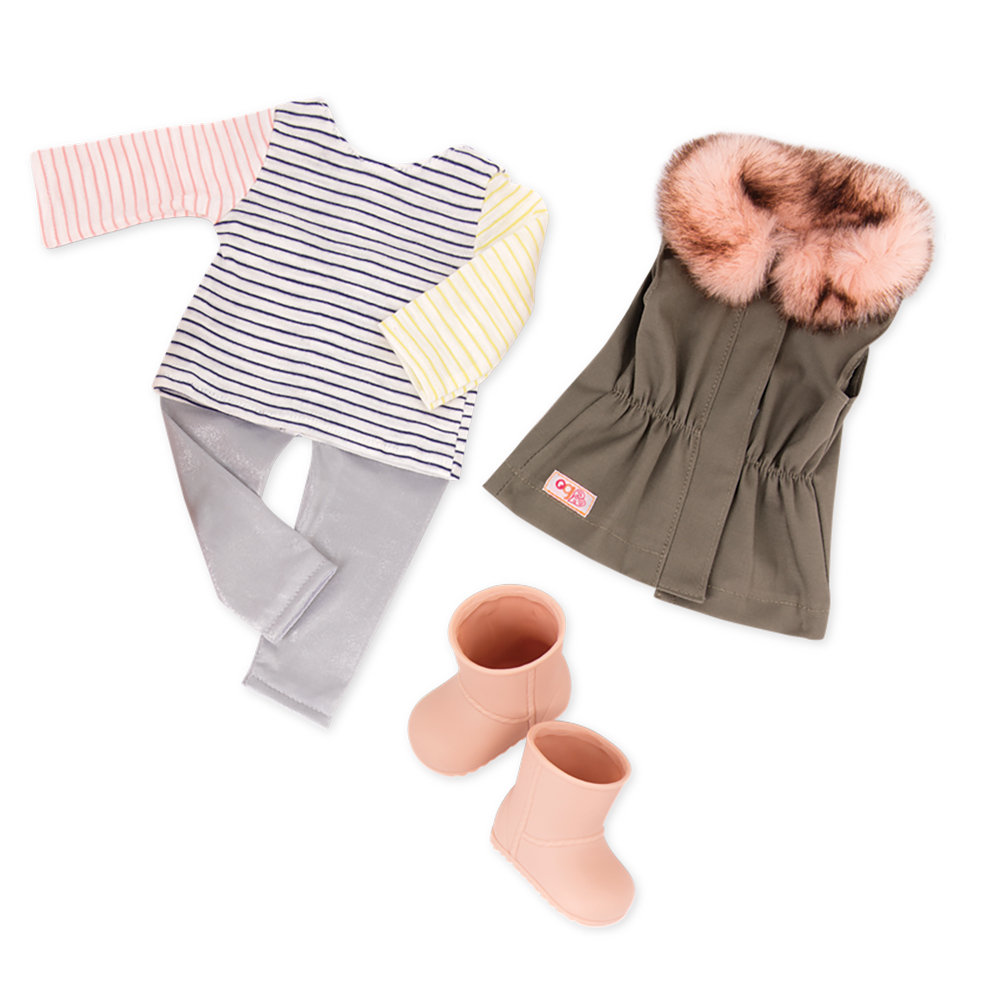 Outfit Set OG - Fun Fur Fall for 18 Doll