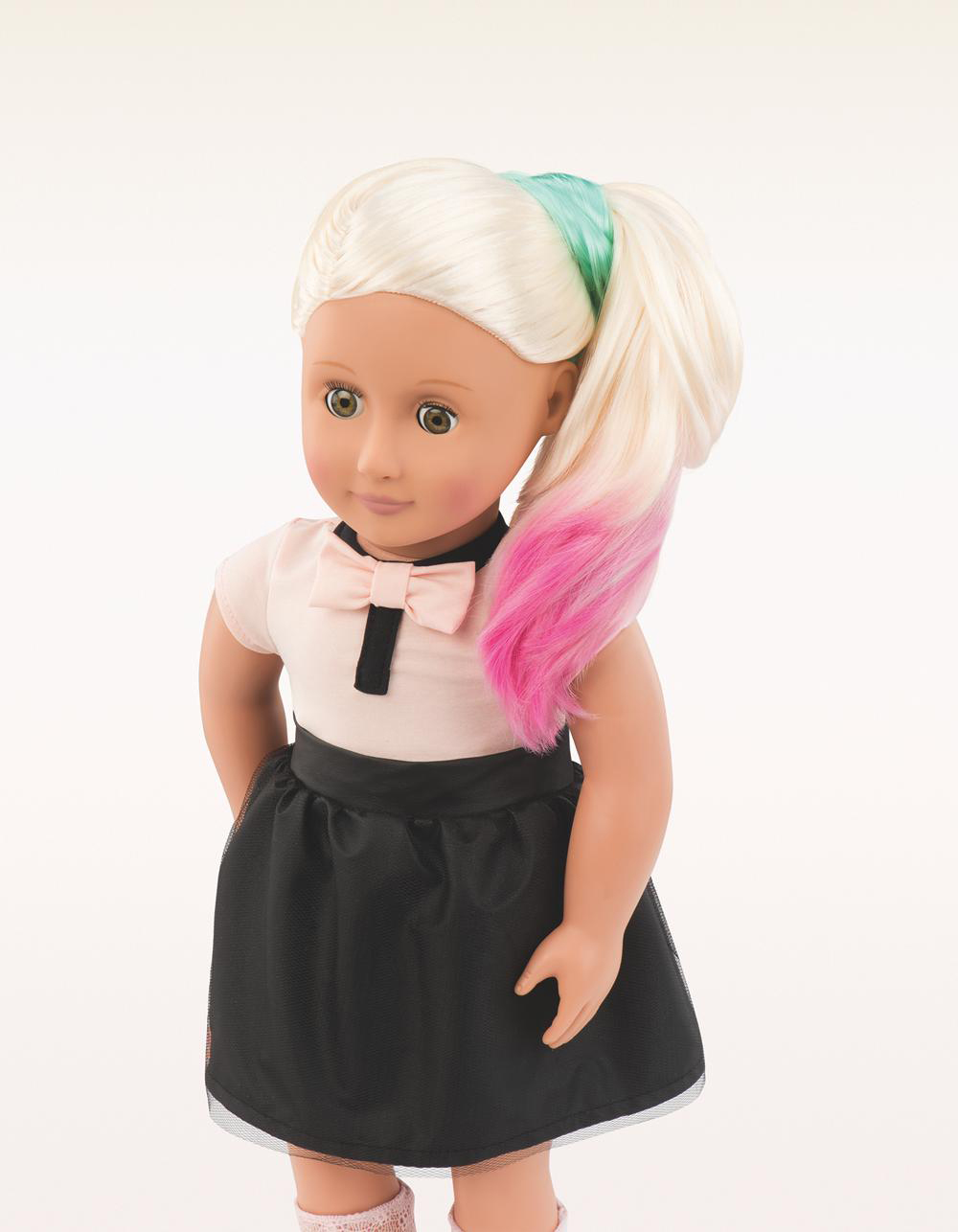 Poupée de luxe Amya avec craie pour cheveux 46 cm