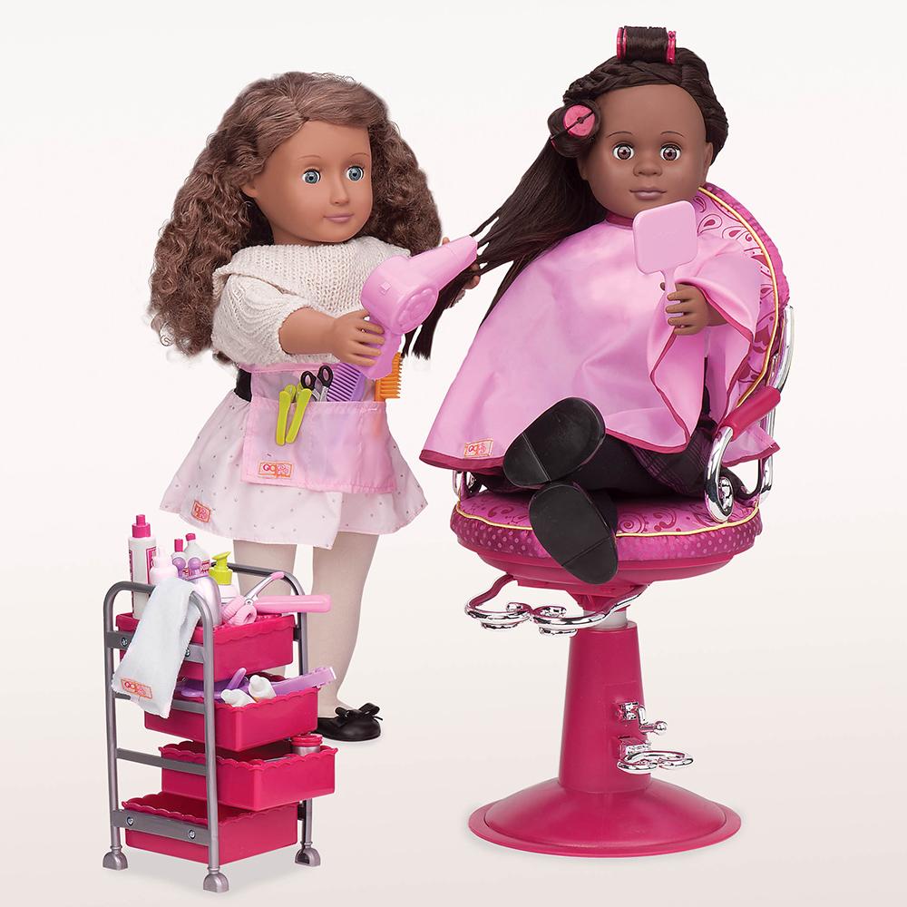 Accessoires de coiffure Berry Nice Salon pour poupée OG de 46 cm