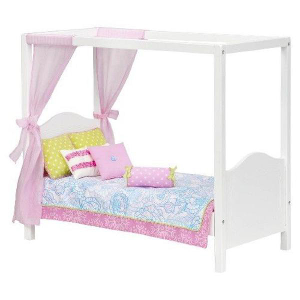 Lit à baldaquin My Sweet Canopy Bed pour poupée 46 cm