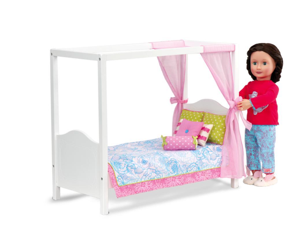 Lit à baldaquin My Sweet Canopy Bed pour poupée OG de 46 cm