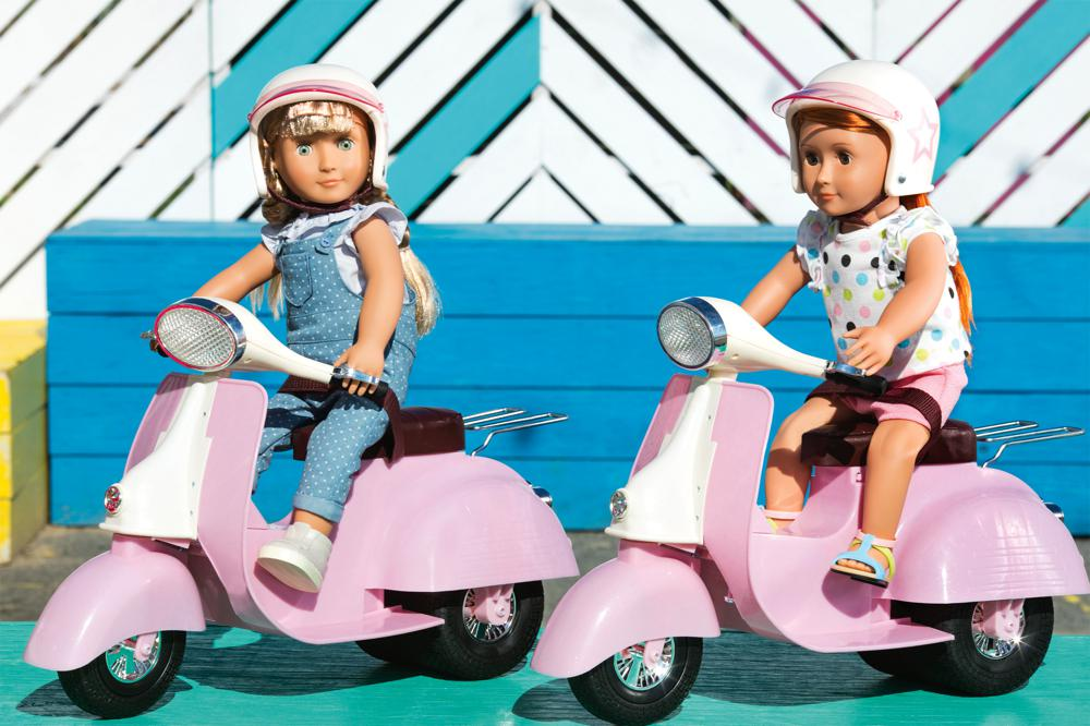 Accessories OG - Ride in Style Scooter for 18 Doll - Pink and Ivory