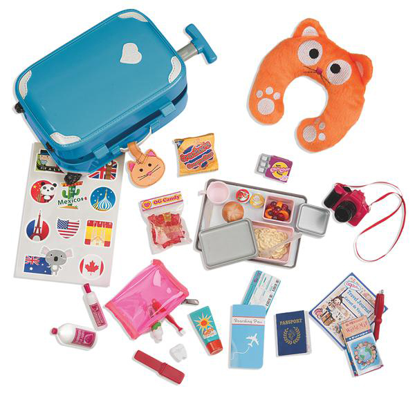 Accessories OG - Well Traveled Luggage Set for 18 Doll