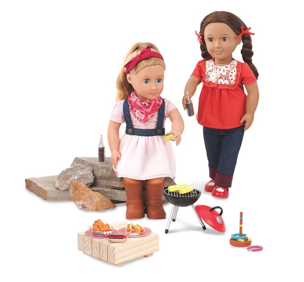 Accessoires pour BBQ pour poupée OG de 46 cm