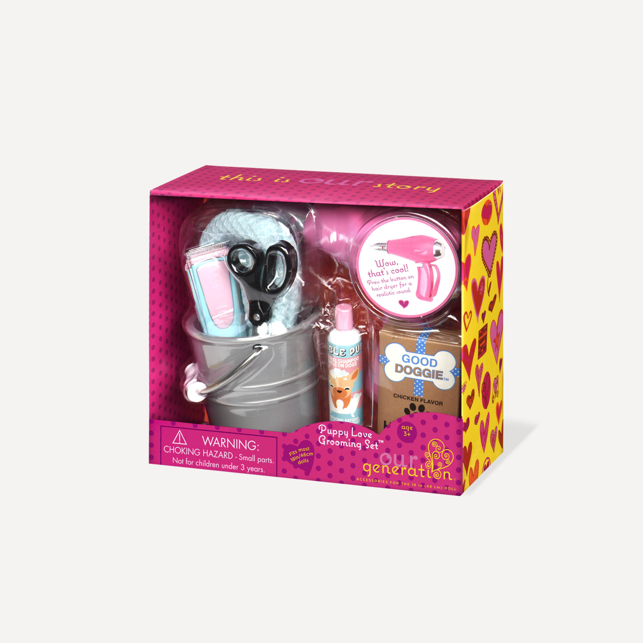 Mini accessories OG - Puppy Love Grooming Set
