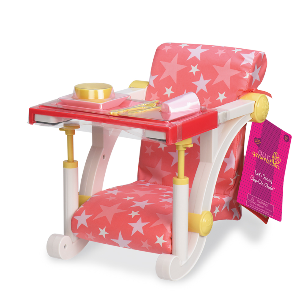 Accessories OG - Let's Hang Clip-On chair for 18 Doll - Stars