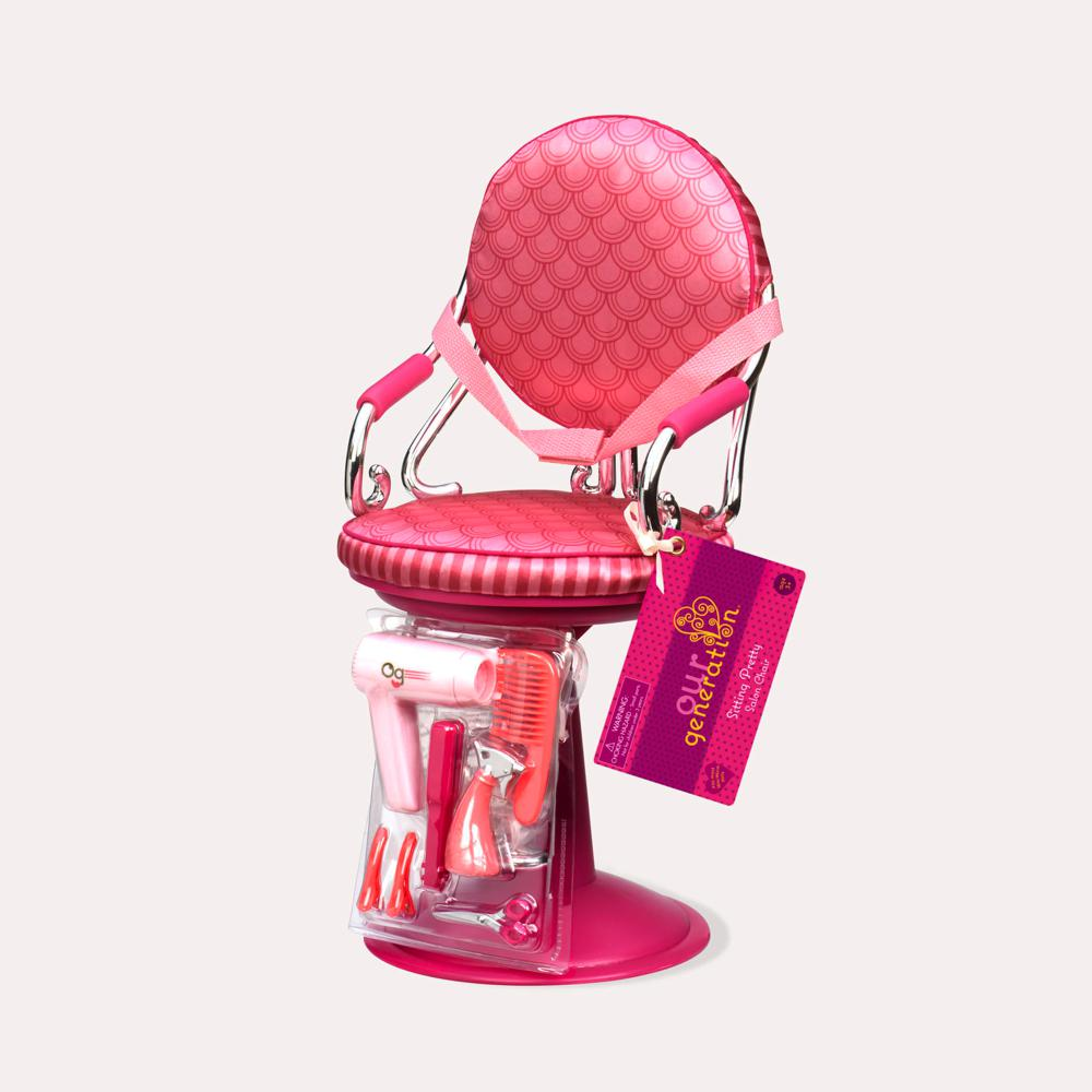 Chaise De Coiffeur Sitting Pretty Pour Poupe OG 46 Cm
