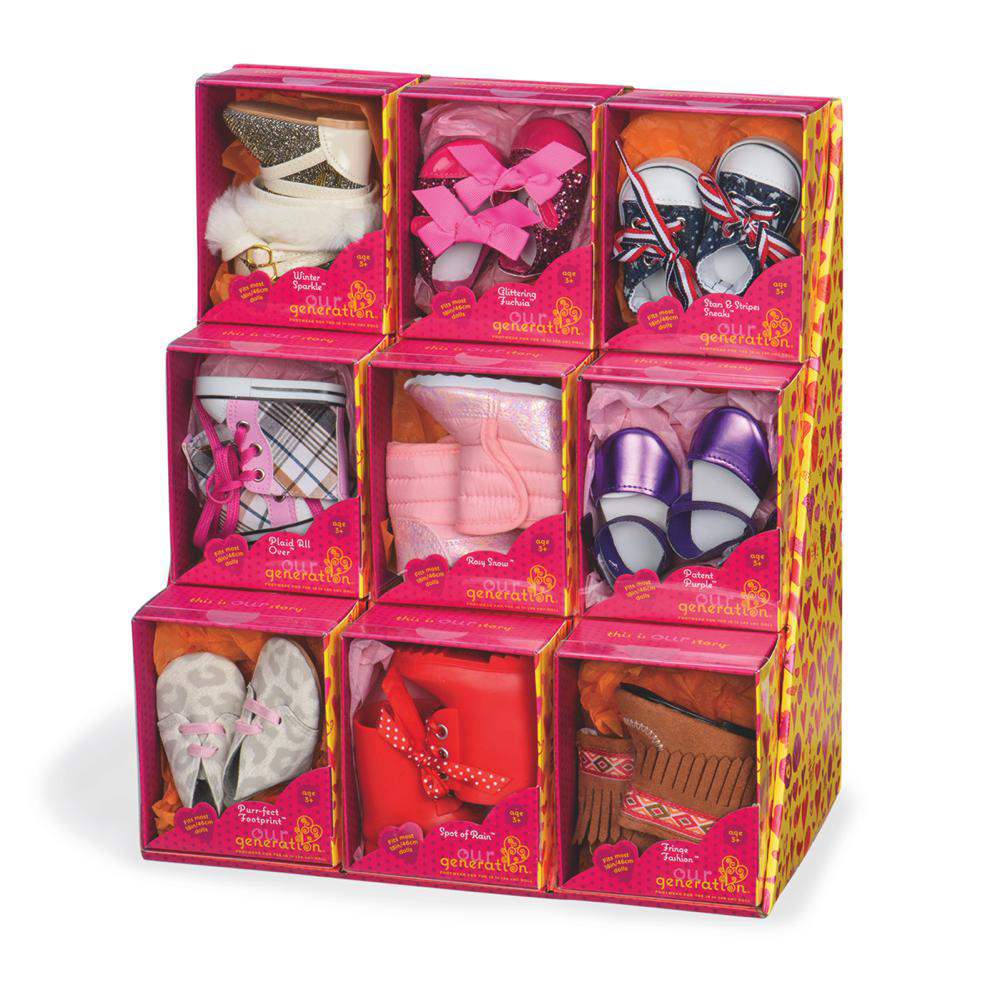 Souliers pour poupée 46 cm 9 modèles assortis