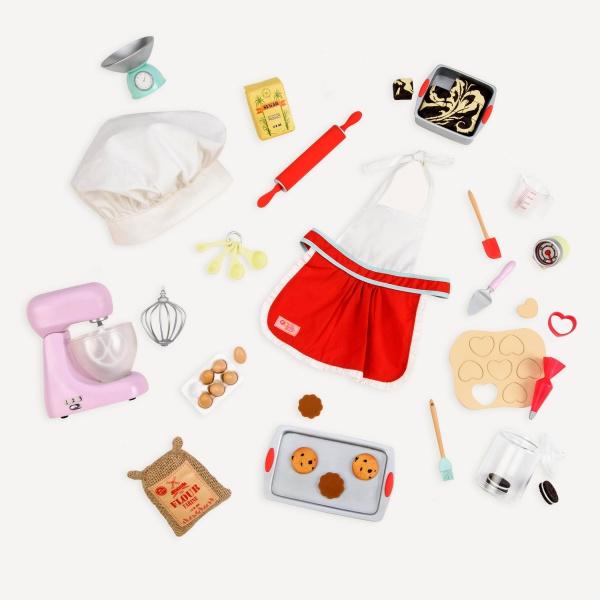 Ensemble de chef et accessoires Master Baker pour poupée OG de 46 cm