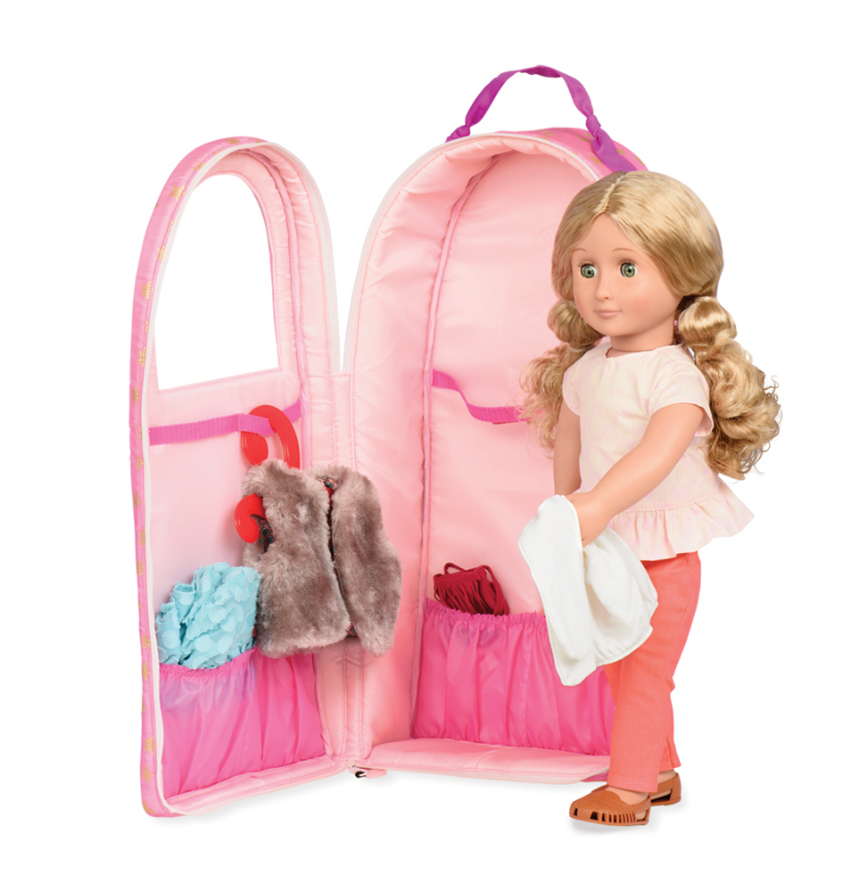 Suitcase OG - Going My Way Doll Carrier Stars for 18 Doll