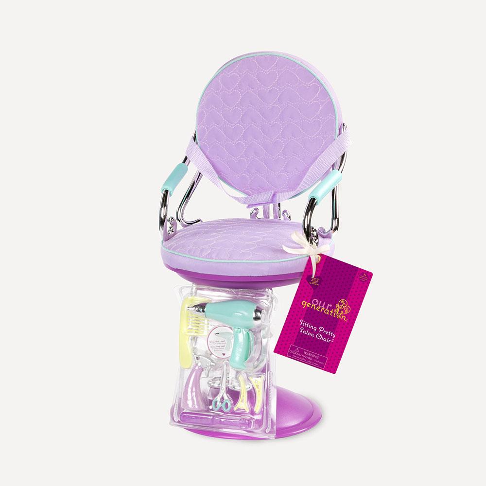 Accessories OG - Sitting Pretty Salon Chair for 18 Doll - Purple