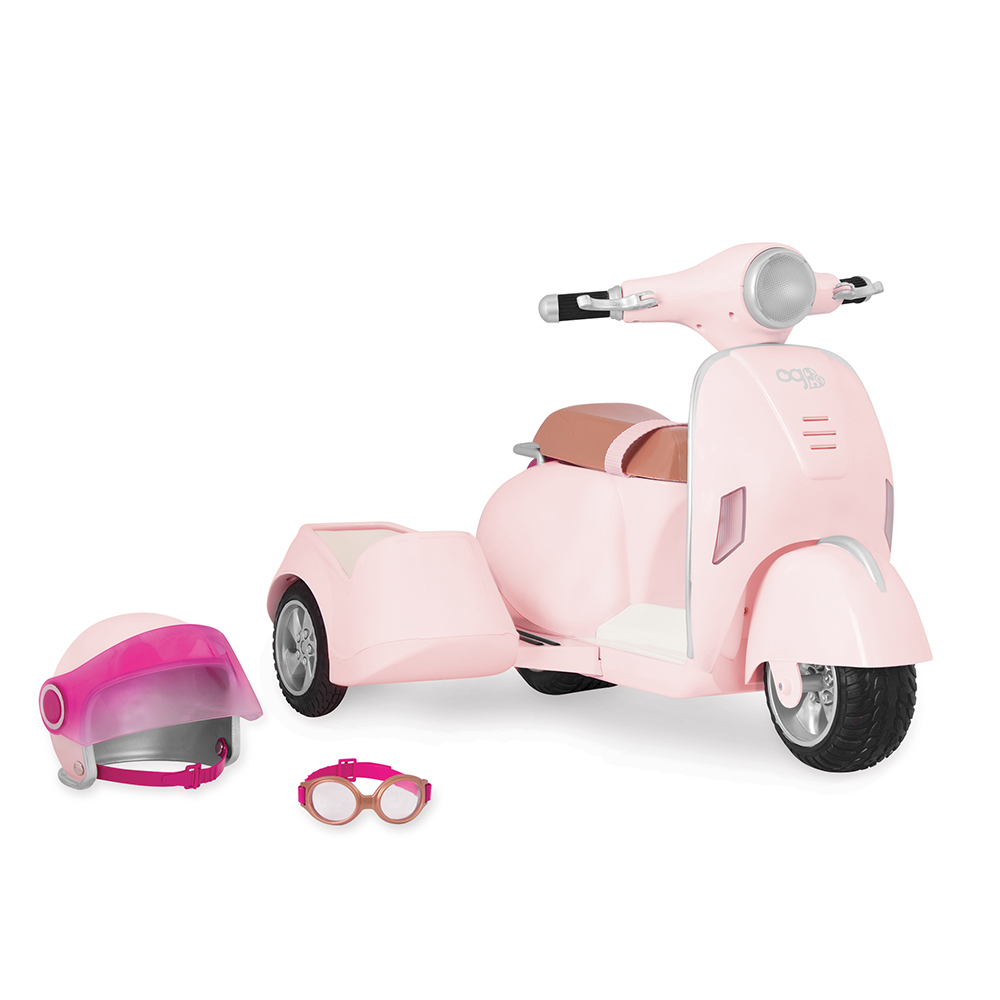 Accessories OG - Ride Along Scooter with Side Car for 18 doll