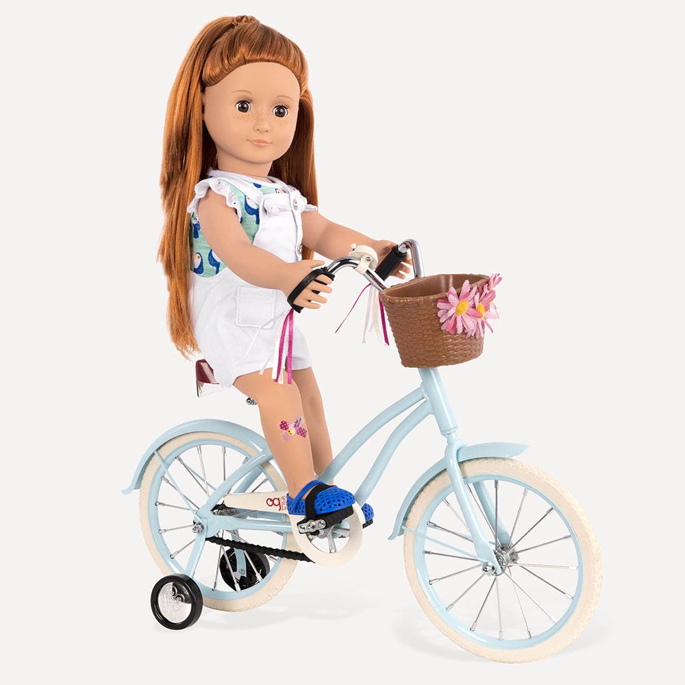 Vélo de ville pour poupée de 46 cm