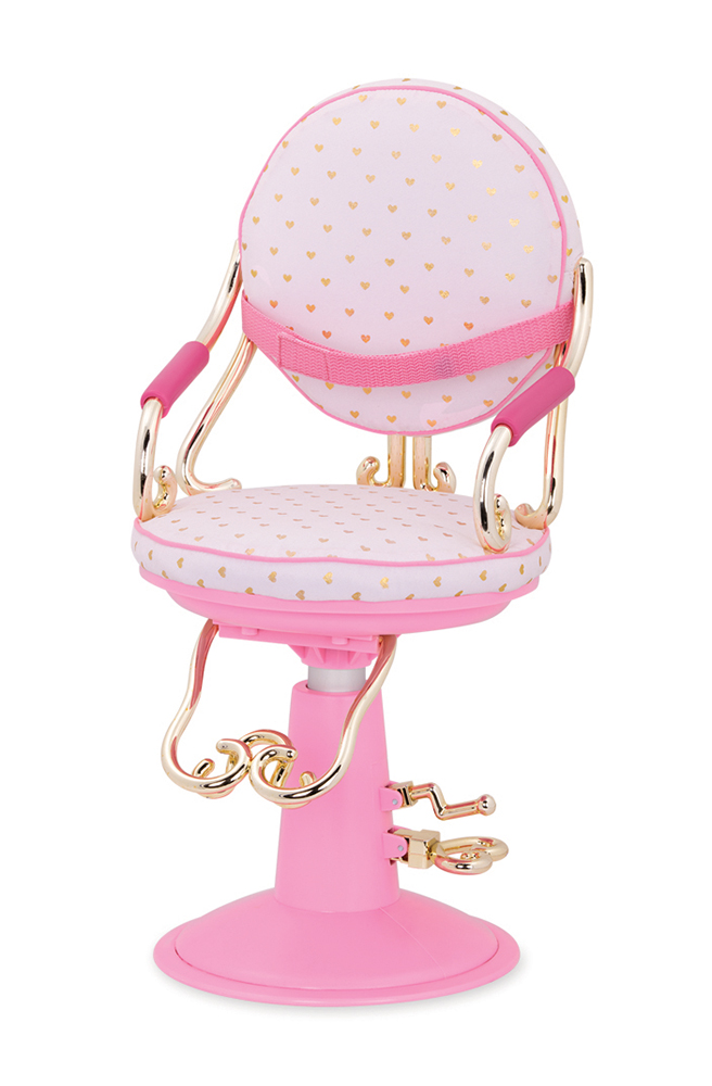 Accessories OG - Sitting Pretty Salon Chair for 18 Doll - Pink