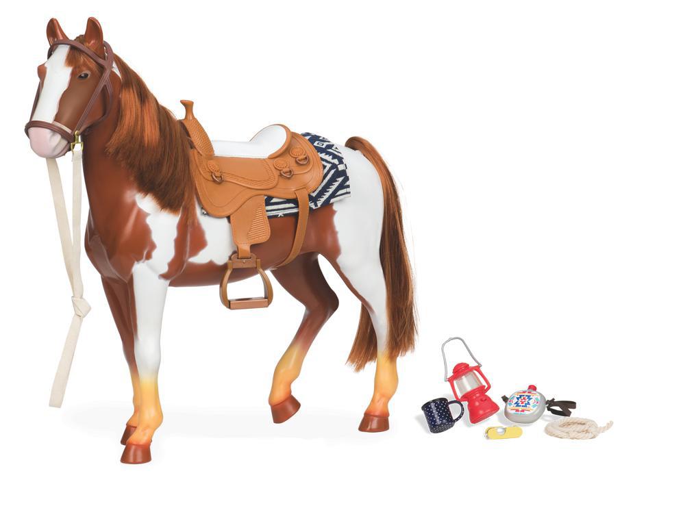 Cheval de randonnée Appaloosa 50 cm pour poupée OG de 46 cm