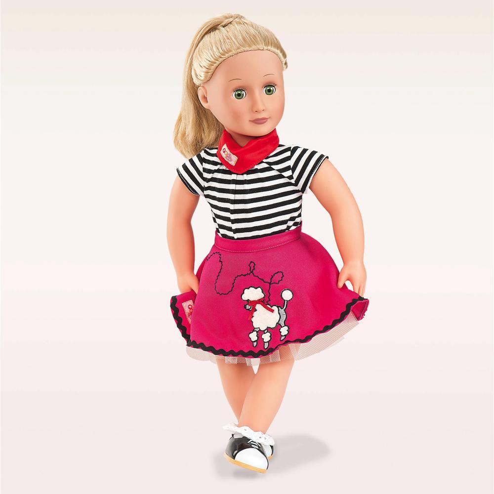 Ensemble de luxe rétro JupeBop Till you Drop pour poupée OG de 46 cm