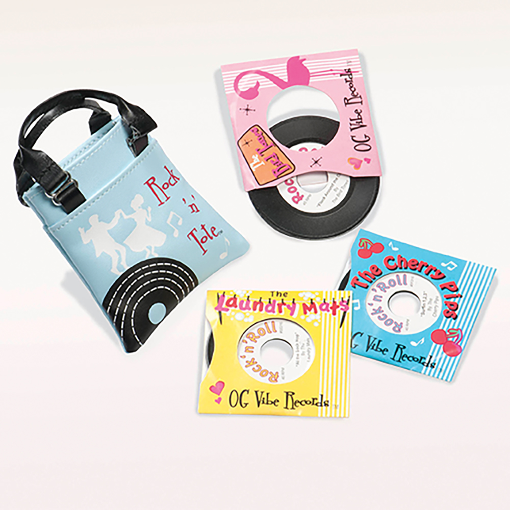 Mini Retro accessories OG -Rock And Tote With Records