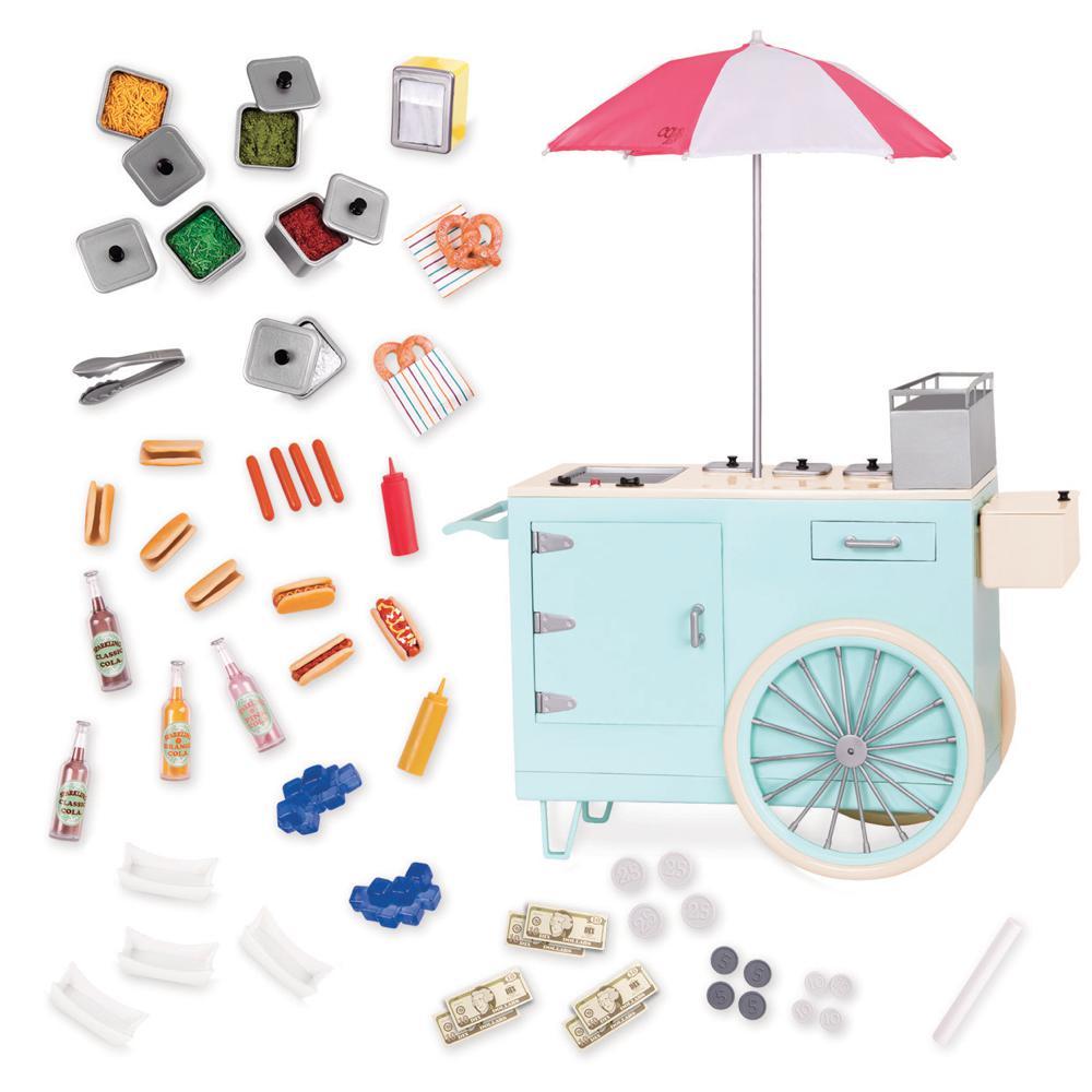 Set OG - Retro Hot Dog Cart for 18 Doll