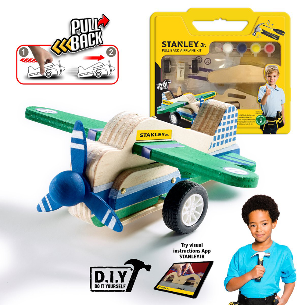 Stanley Jr. - Pull back Airplane Kit