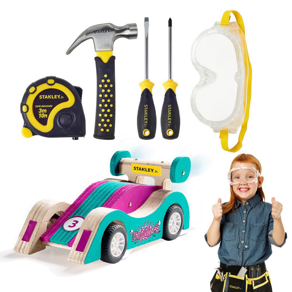 Stanley Jr. - Pullback car and Tool kit Purple