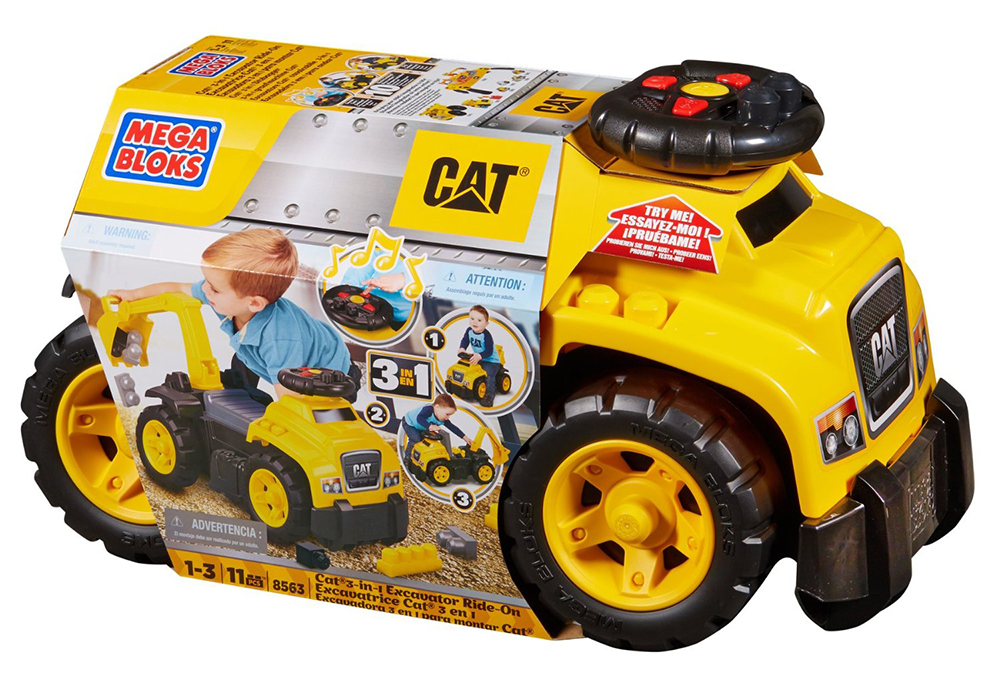 Mega Bloks-CAT Trotteur-Excavateur 2-en-1