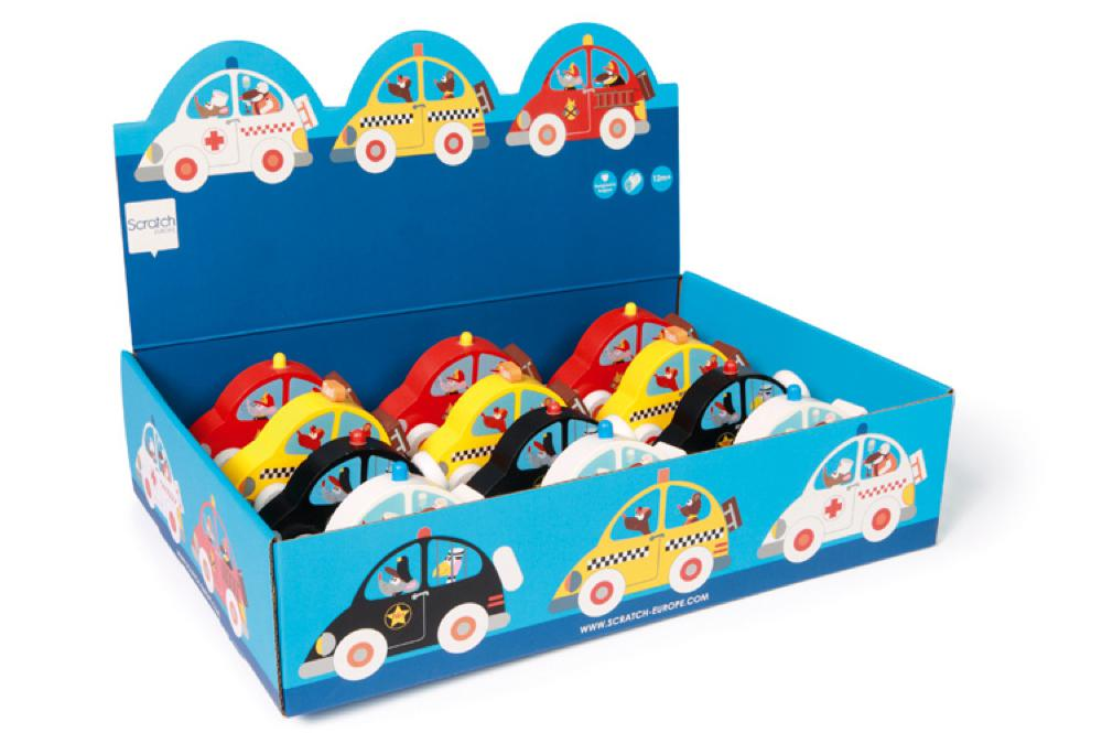 Scratch - Small wooden car assorted