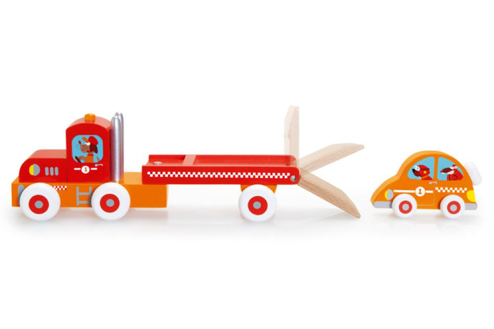 Truck and racing car