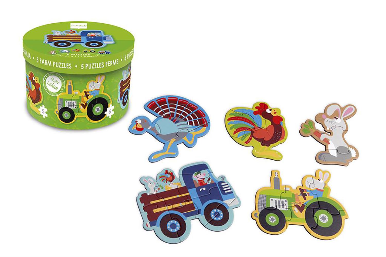 Puzzles Farm 3-4-5-6-8 pieces