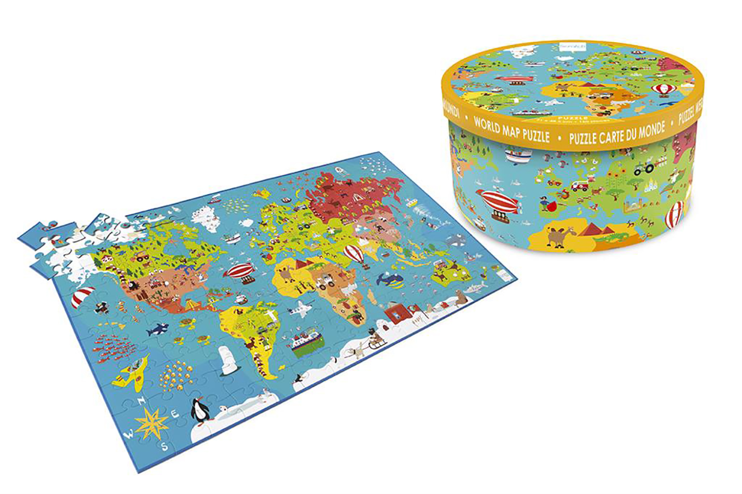 Puzzle XXL World Map 150 pieces