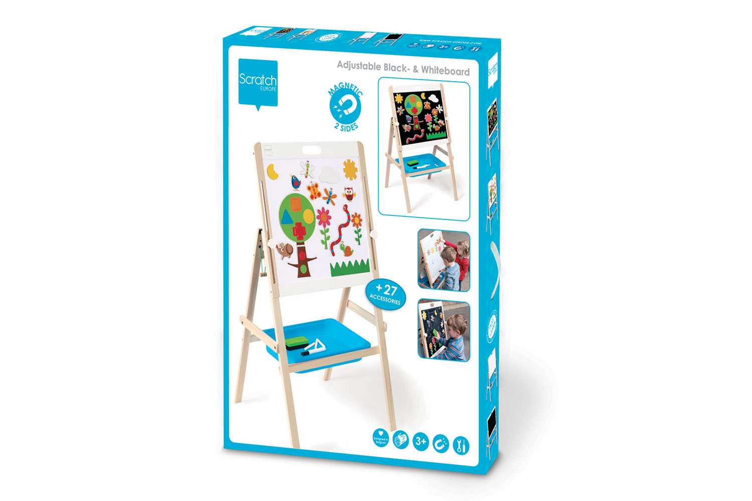 Scratch - Easel 2-sided Black and white board