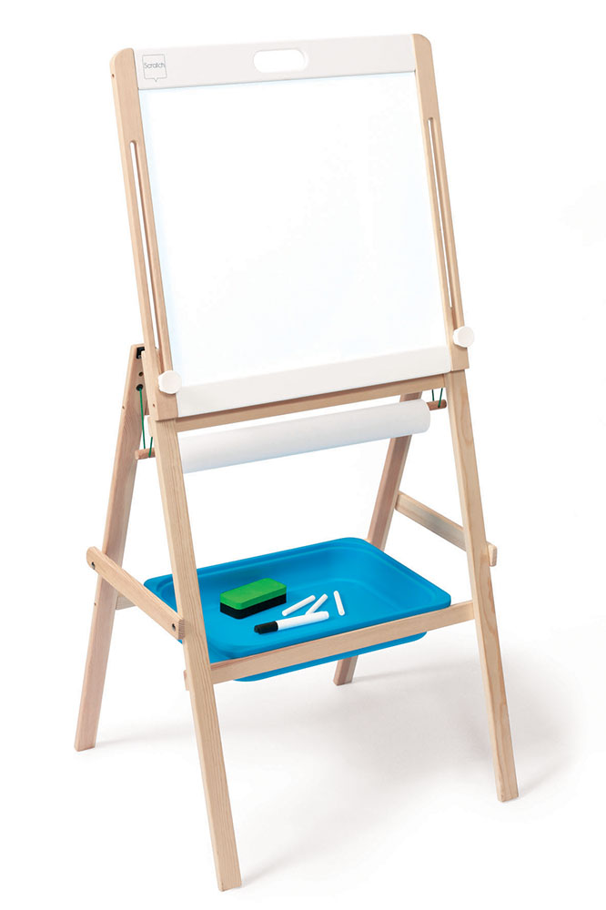 Easel 2-sided Black and white board