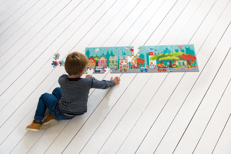Floor Puzzle City 100 pieces