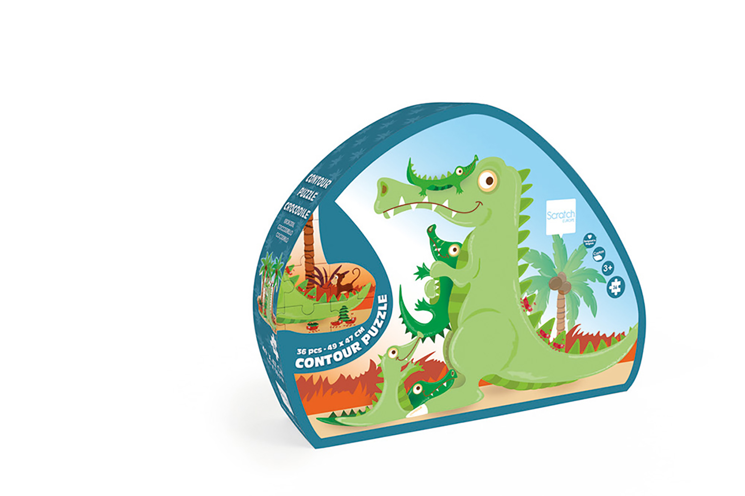 Scratch - Contour Puzzle Crocodile 36 pieces