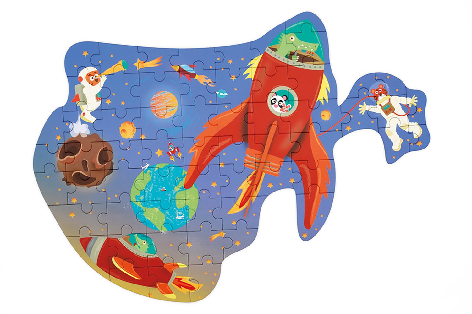 Scratch - Contour Puzzle Space 60 pieces