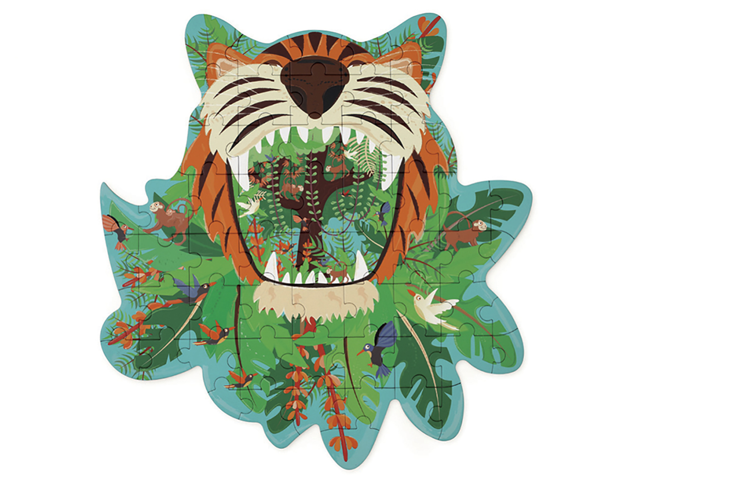 Scratch - Contour Puzzle Tiger 59 pieces