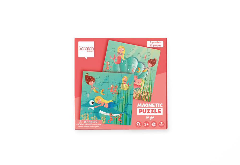 Scratch - Magnetic Puzzle Book to go Mermaid 20 pieces