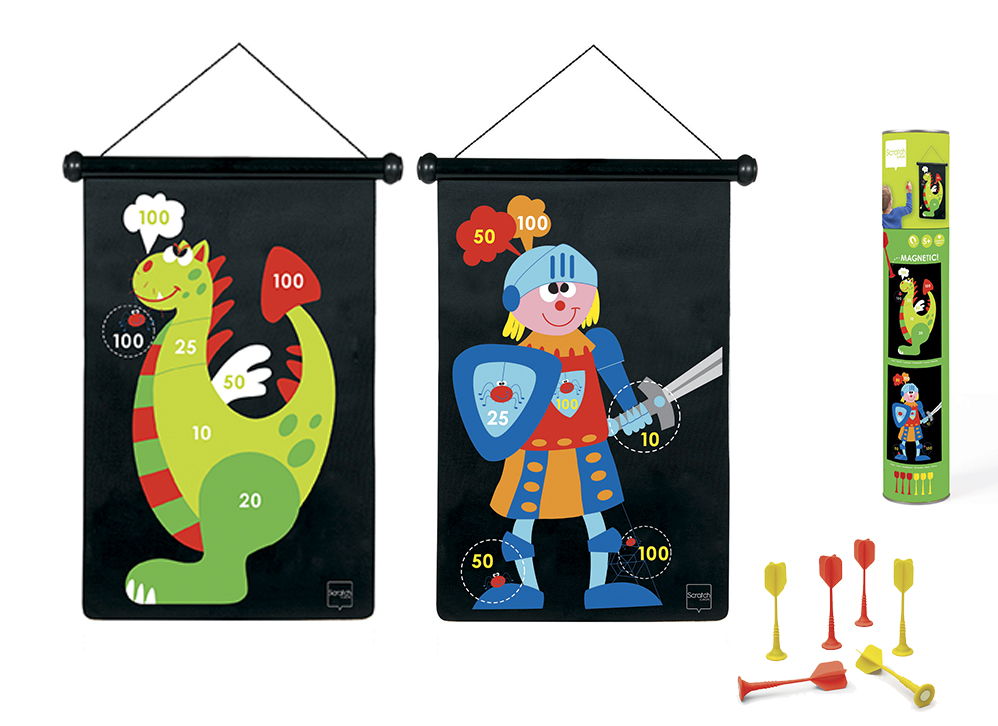Double-sided Magnetic Darts Dragon & Knight