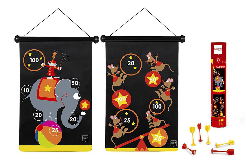 jeu de dards magn tiques double face cirque scratch. Black Bedroom Furniture Sets. Home Design Ideas