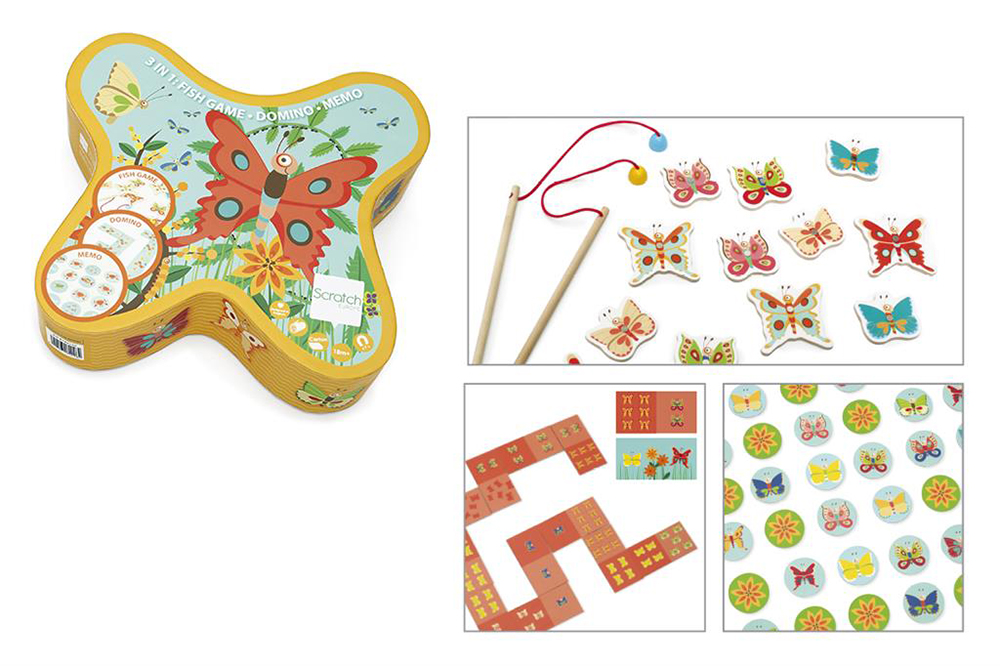 Scratch - 3-in-1 Butterfly Game