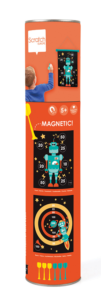Double-sided Magnetic Darts Robot