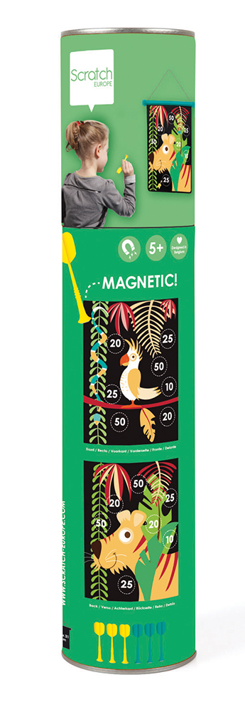 Double-Sided Magnetic Darts Tropical Jungle
